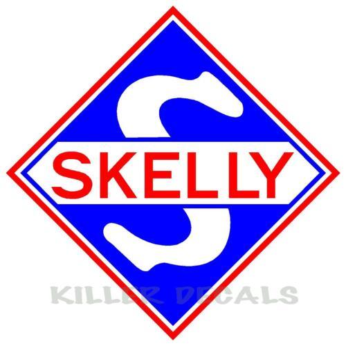 "SKEL-1 12/"" SKELLY SHIELD GAS PUMP GASOLINE OIL DECAL"