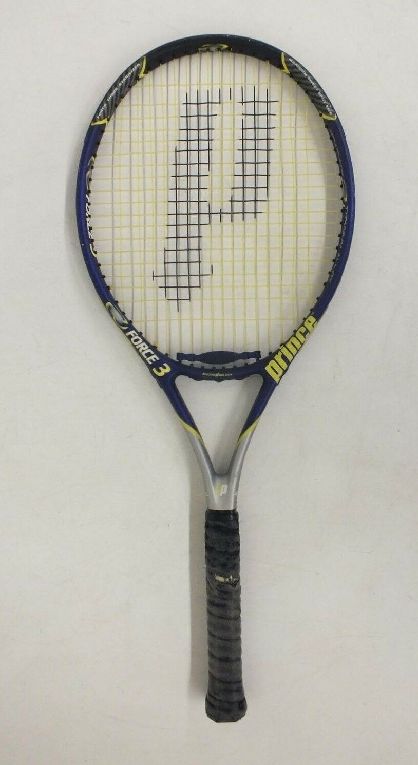 Prince Force 3 Energy Ti Graphite Titanium Tennis Racquet w 4 1 4  Grip GREAT