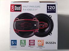 "Dual Electronics DLS524 5-1/4"" 4-Way Speakers 120 Watts"