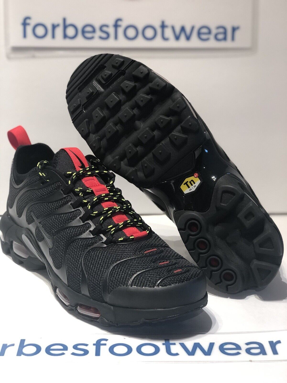 free shipping 01c61 a6ee7 Nike Air Max Plus TN Ultra Ar4234-002 Black/university Red/volt Sz 8