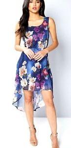 fa40c47725 New Women s Mela London Printed Dip Hem Floral Dress Size UK 12