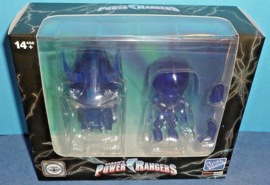 Power Rangers bluee Ranger & Zord Clear bluee Figure Set Loyal Subjects Club TLS