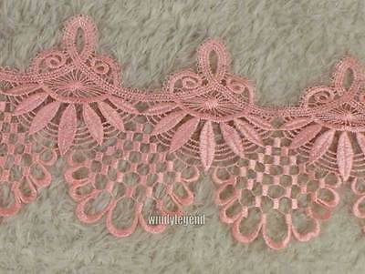 3 Yards Peach Fabric Polyester Applique Venise Lace 17cm Sewing Trim Craft