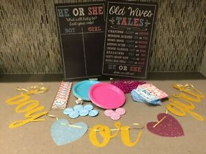 Details about gender reveal party decorations