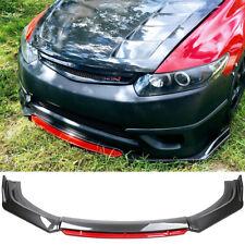 For Honda Civic Si Coupe 2006 2021 Front Bumper Splitter Red Lip Carbon Fiber Fits 2013 Honda Civic Si