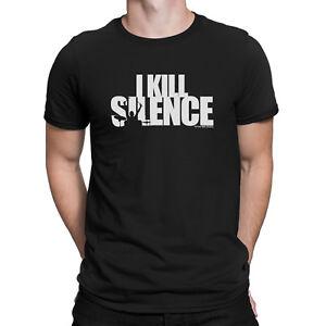 436cd36d Mens Funny I KILL SILENCE Drumming Drummer Drum Kit Sticks Music ...
