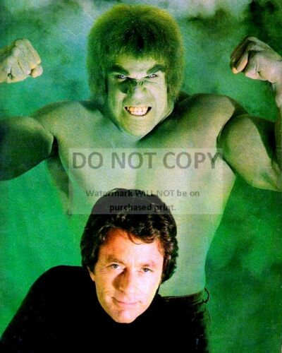 "EE-107 BILL BIXBY LOU FERRIGNO IN /""THE INCREDIBLE HULK/"" 8X10 PUBLICITY PHOTO"