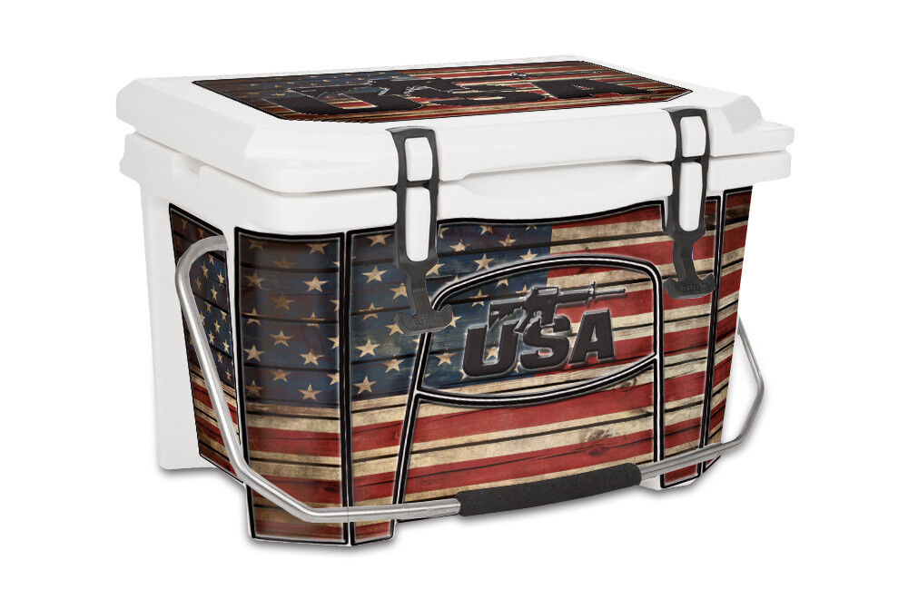 USATuff Decal Wrap Full Kit fits Grizzly 20qt Cooler USA LS