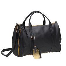 Women Studs Studded Studed Bottom Duffel Leather Tote Shoulder Bag Handbag bags