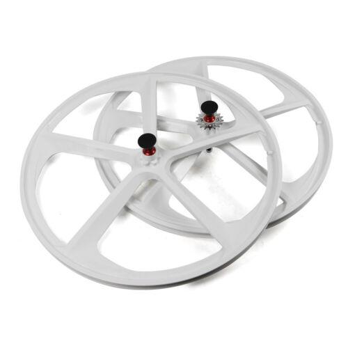 Details about  /White//Black 700c 5-Spoke Mag Wheel Set Front/&Rear Fixed Gear Fixie Bike 17 Teeth