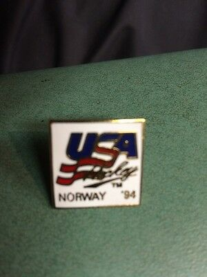 LILLEHAMMER NORWAY 17th Winter Olympic USA Ski Team NOC 1994 delegation pin