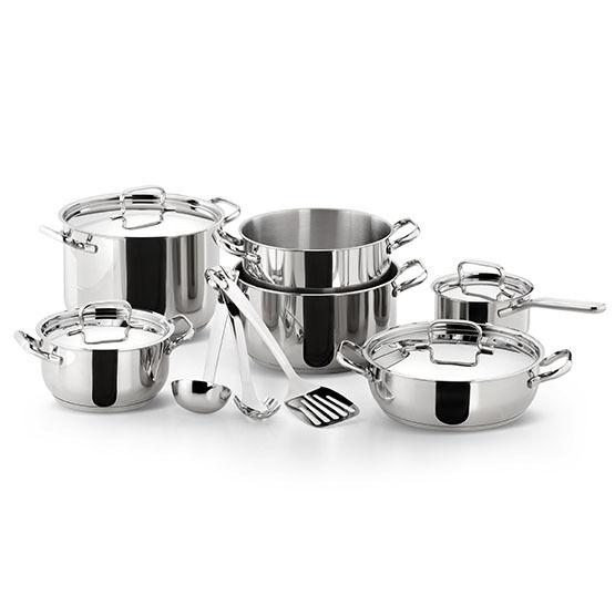 LAGOSTINA SFIZIOSA Cookware Set pots casseroles 13 pcs en acier inoxydable également induction