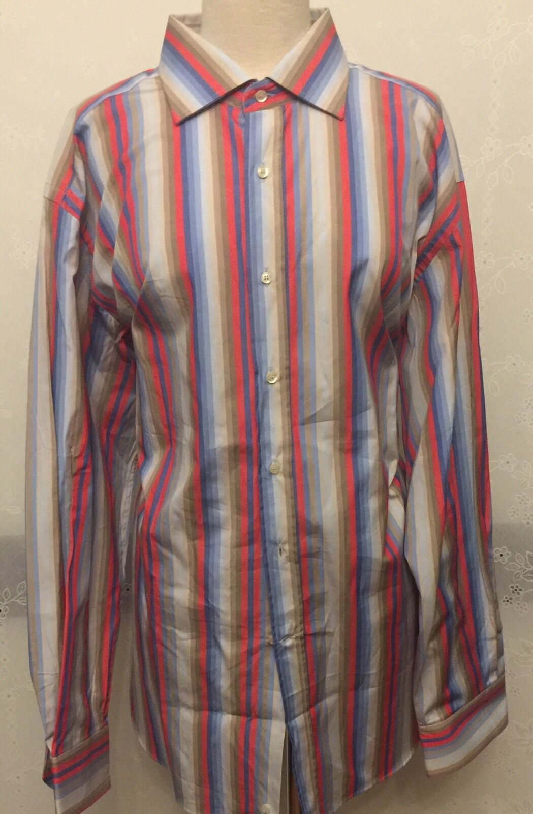 NWT Etro Men's Long sleeves Stripe Multicolor Shirt