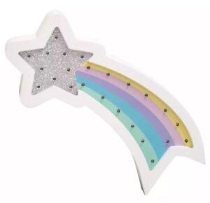 Stella Cadente Di Natale.Stella Cadente Arcobaleno Glitter Luce A Led Muro Bambini Camera Da Letto Arredamento Per Regalo Di Natale Ebay