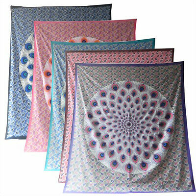 Various Colors Nourishing Blood And Adjusting Spirit Decorative Blanket Peacock Feather Bedspread Wall Hanging