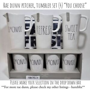 Rae-Dunn-Pitcher-Tumbler-Set-4-Melamine-LEMONADE-SWEET-TEA-034-YOU-CHOOSE-034-039-19