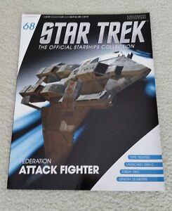 NEW STAR TREK EAGLEMOSS MAGAZINE ONLY. FEDERATION ATTACK FIGHTER AAA++++++++++++