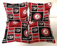 Alabama Crimson Tide 4 Cornhole Bags Bean Toss Ncaa Block Print 2 Sides