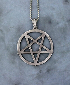 Inverted pentagram necklace large pentacle magic symbol occult image is loading inverted pentagram necklace large pentacle magic symbol occult aloadofball Choice Image