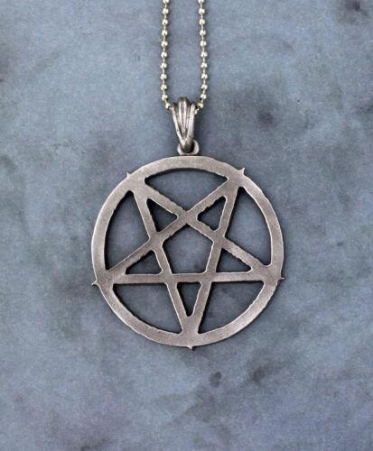 Large Pentacle Magic Symbol Occult Pantacle Inverted Pentagram Necklace