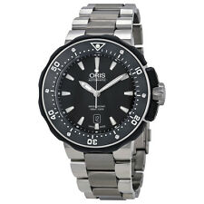 Oris Pro Diver Black Dial Titanium Mens Watch 733-7682-7154MB