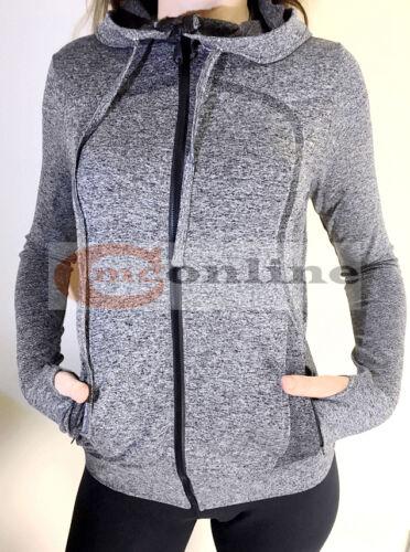Womens Running Seamless Jacket Quick Dry Long Sleeve Training Zip Hoodie Top