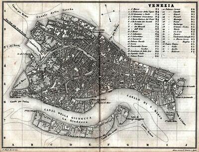 Cartina Topografica Venezia.Pianta Di Venezia Carta Topografica Artaria Stampa Antica