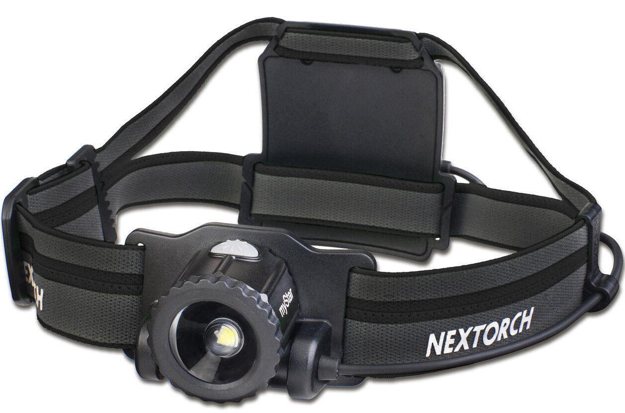 Nextorch mystar resaltable LED lámpara de cabeza-Especial Edition negro 550 lumen
