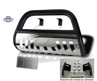 Bull Bar 2005-up Toyota Tacoma Push Bumper Guard In Black Stainless Steel