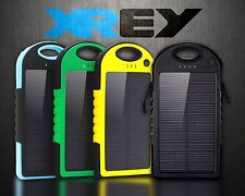 External Portable Waterproof Solar Battery Phone Power Bank Charger Dual USB UK