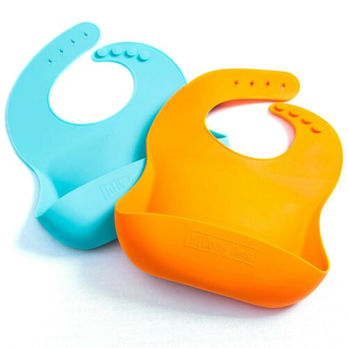 Silicone bébé bavoirs La dernière bavoir bébé vous aurez besoin – LES 2 Packs de sup...