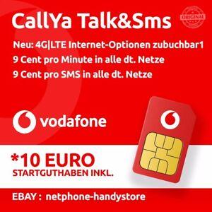 Vodafone Neue Sim Karte Kosten.Details Zu 10 Vodafone Talk Sms Sim Karte Callya 9 Cent Prepaid Handy Card D2