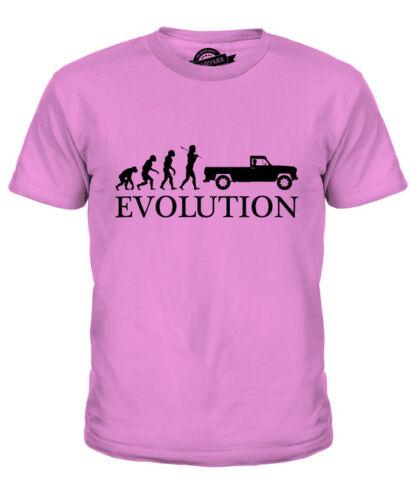 Il ritiro dell/'evoluzione umana Kids T-Shirt Tee Top Regalo Van Camionista