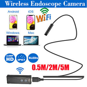 2MP-7mm-6LED-Wireless-WiFi-Borescope-Inspection-Endoscope-Camera-IP67-USB-Cable
