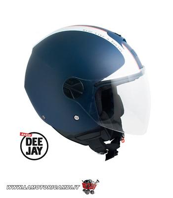 nero gommato per Scooter e Moto Casco Demi-Jet Open Face CGM 101G OREGON
