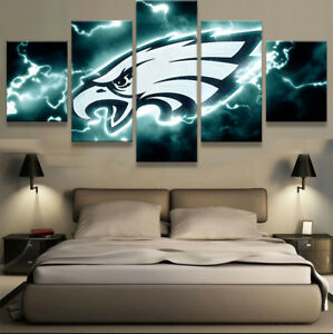 Image Is Loading Philadelphia Eagles Sport Painting Art Wall Modern Home