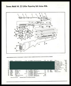 1995 SAVAGE Model 46 .22 Repeating Bolt Action RIFLE Exploded View ...