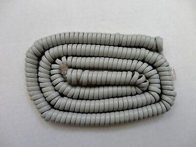 Telephone Coiled Handset Phone Cord Modular Plug IVORY Color 25/' 25 Feet 25ft