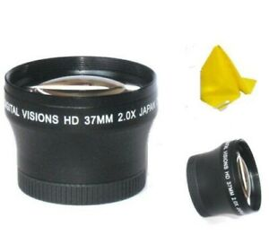 37mm Digital Vision 2X Telephoto Lens for Photo and Video Camera