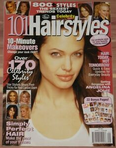 2005 9 101 Hairstyles Magazine Angelina Jolie Lohan Aniston Lopez Hilton Ebay