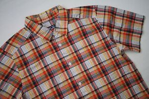 Patagonia-Organic-Cotton-Casual-Short-Sleeve-Button-Front-Plaid-Shirt-Mens-Small