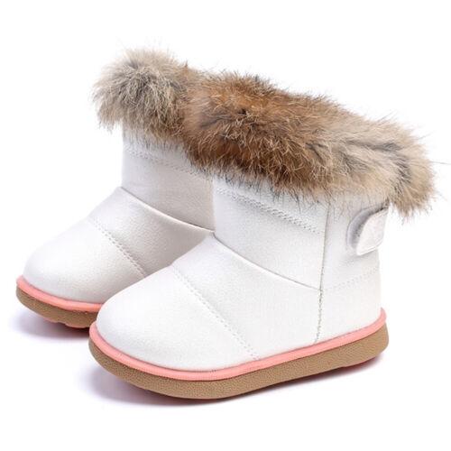Kinder Winter Warm Gefüttert Stiefel Schuhe Schnee Boot Stiefeletten für Mädchen