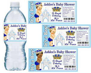Image Is Loading 20 ROYAL PRINCE BABY SHOWER WATER BOTTLE LABELS