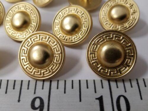 VINTAGE BUTTONS SET OF 12 GOLD DESIGN DUZ106