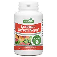 ☆☆☆ 200 Comprimés Dosés 5070 Mg - Guarana - Nopal - Thé Vert