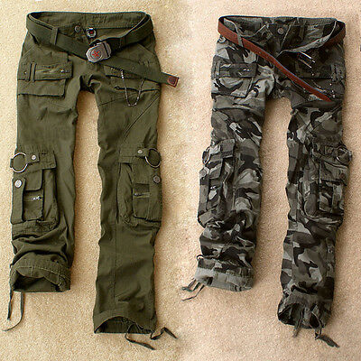 Fashion  Damenmode Cotton Pants Frauen Mesh Camouflage Military Cargo Hose dsgt