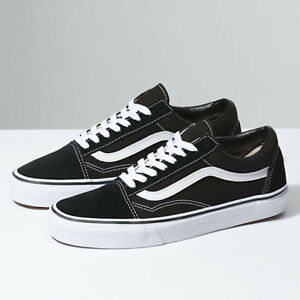 01c79930b157 New Men and Women Vans Old Skool Black Skateboarding Shoes Classic ...