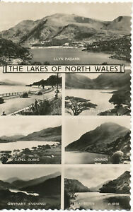 PC16353 The Lakes of North Wales. Multi view. Valentine. No W. 6918. RP. 1962