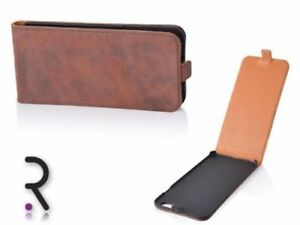 Handytasche-Echt-Leder-Flip-Cover-OHIO-NUBUKO-Nussbraun-Samsung-Galaxy-S3