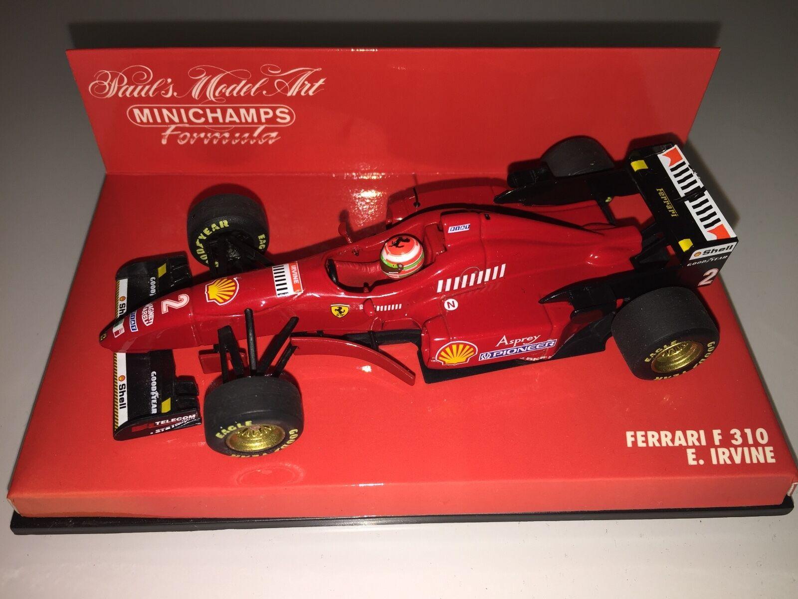 mejor calidad mejor precio Minichamps 1 43 Eddie Irvine Ferrari F310 F1 1996 race race race Coche  buena reputación